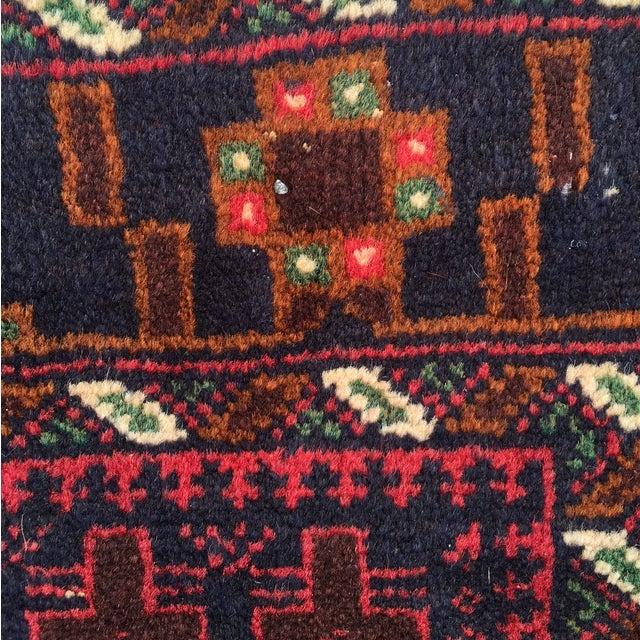 "Red Baluchi Persian Rug - 2'10"" x 4'4"" - Image 5 of 8"