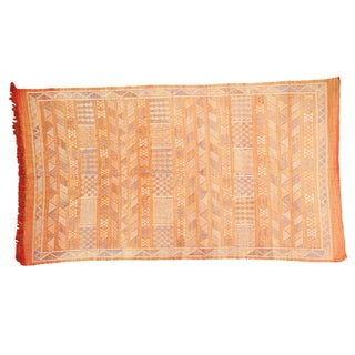"Burnt Orange Kilim Rug - 4'5"" X 7'10"""