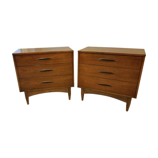 Broyhill Emphasis Lowboy Chests - A Pair - Image 1 of 5