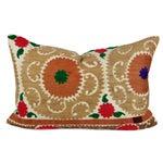 Image of Brown Vintage Suzani Jewel Pillow