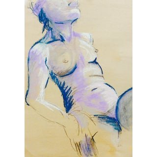 """Violet"" Nude Pastel Painting By Martha Holden"