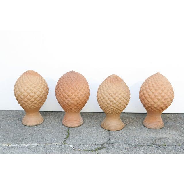 Image of Terra Cotta Pineapple Finials - Set of 4