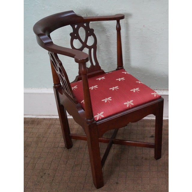 Quality Mahogany Chippendale Corner Arm Chair - Image 3 of 10