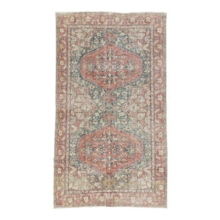 "Vintage Washed Out Turkish Rug - 74"" x 130"""