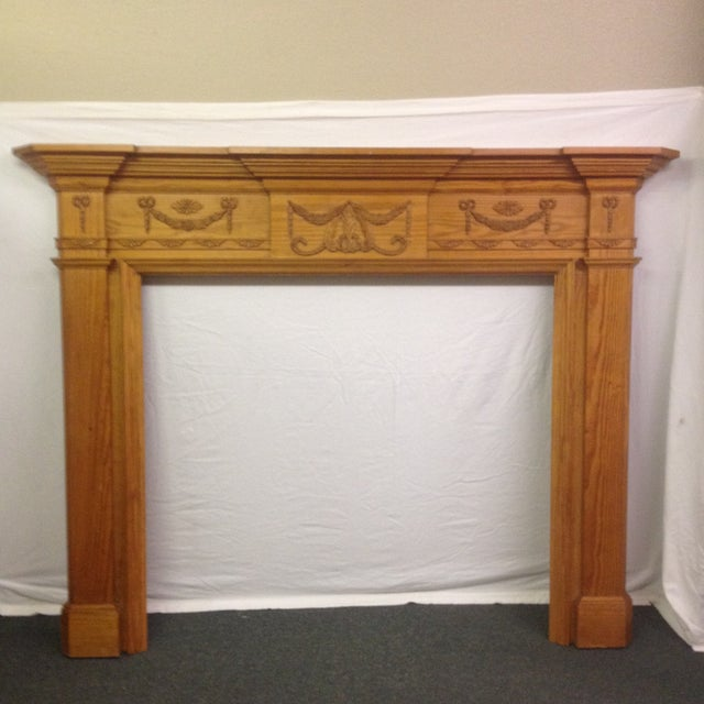 New Pine Fireplace Mantel, Gumps - Image 2 of 9