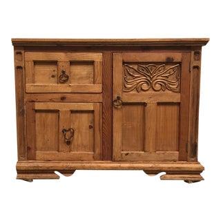 Rustic Pine Storage Cabinet