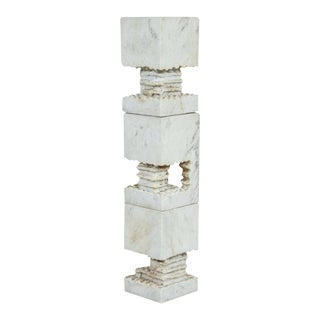 Set of Three White Marble Sculptures by Steven Karr