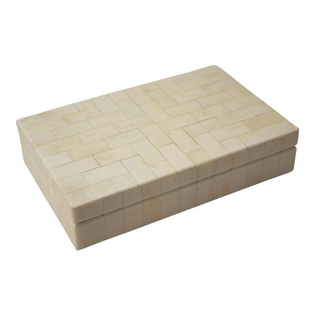 Tessellated Bone Trinket Box - Image 1 of 11
