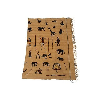 Naga Hill Tribe Primitive Embroidered Story Throw