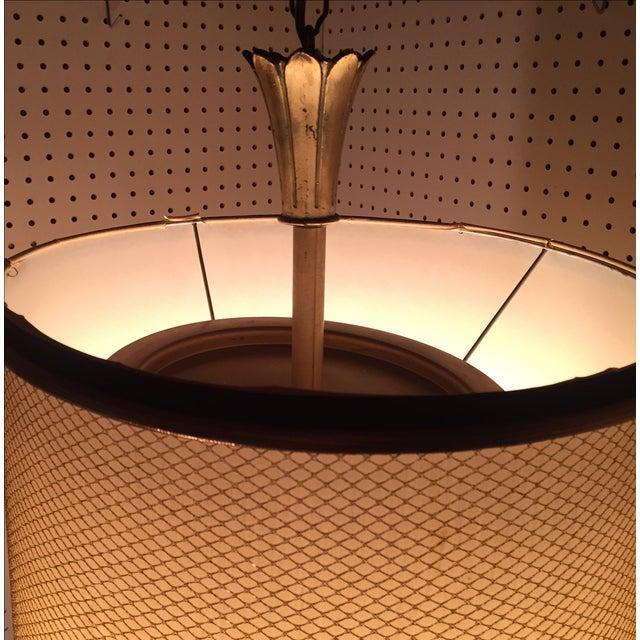 Feldman Brass Lotus Flower Hanging Drum Lamp - Image 6 of 8