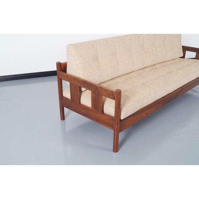 Danish Modern White Sofa - Image 4 of 5