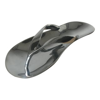 Mariposa Polished Metal Flip Flop Serving Tray