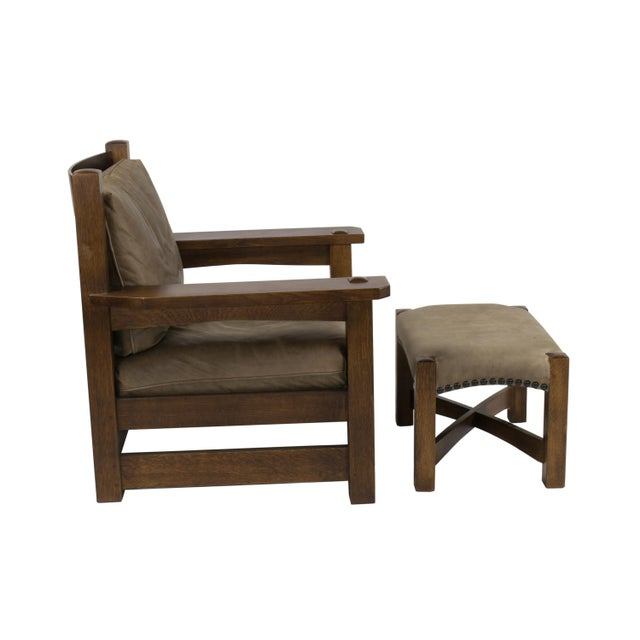 Stickley Co. Eastwood Chair And Ottoman - Image 7 of 10
