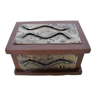 Hand-Crafted Wood & Metal Box
