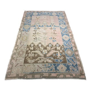 "Bellwether Rugs Vintage Turkish Oushak Rug - 3'9"" X 6'3"""