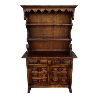 Vintage Spanish Style Wood Hutch