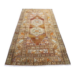 Turkish Antique Oushak Rug - 4′2″ × 8′8″