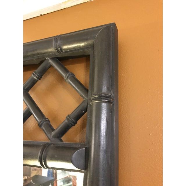 Mid-Century Black Bamboo Mirror - Image 6 of 7