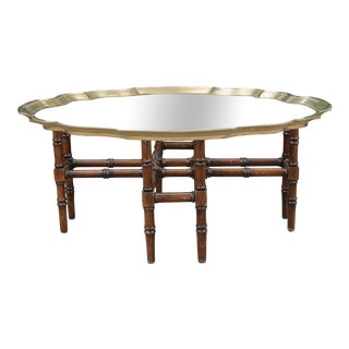 Bamboo Coffee table with glass top