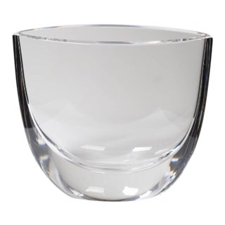 Orrefors Oval Crystal Vase