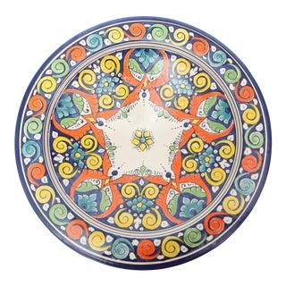 Atlas Moroccan Floral & Swirl Pedestal Plate
