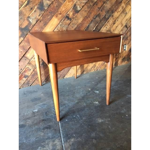 Mid-Century Refinished Side Table With Drawer - Image 3 of 6