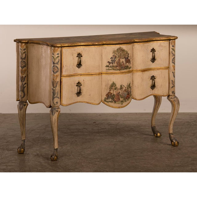 Antique Italian Baroque Painted Two Drawer Chest, circa 1750 - Image 2 of 11