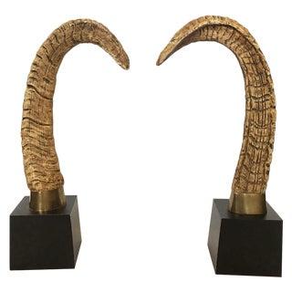 Faux Brass Sheep Horns - A Pair