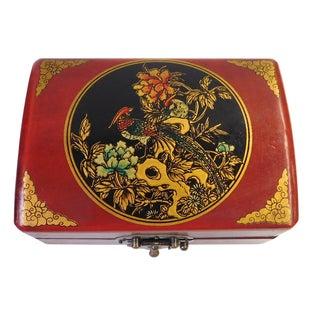 Chinese Red Rectanuglar Box