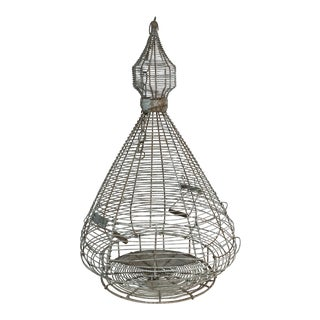 French Blue Wire Birdcage
