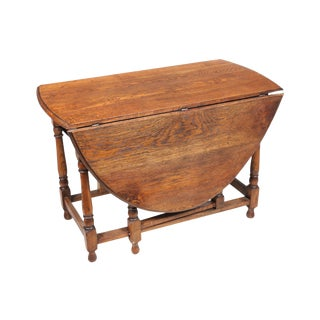 1920s William And Mary Gate Leg Table