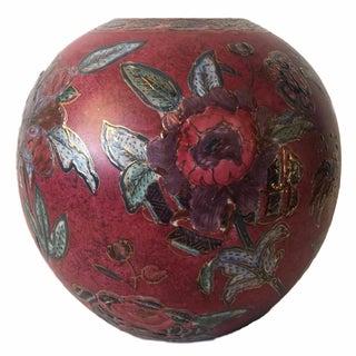 Handpainted Floral Vase