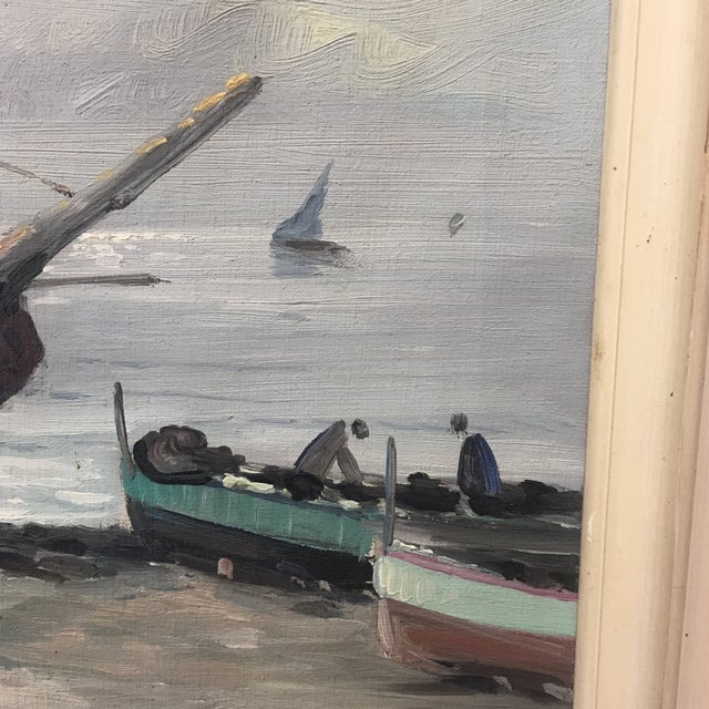 Vintage Nautical Oil Seascape - Image 9 of 11