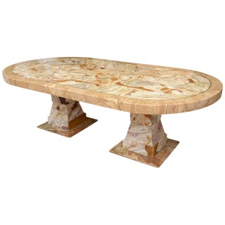 Muller of Mexico Onyx Racetrack Dining Table