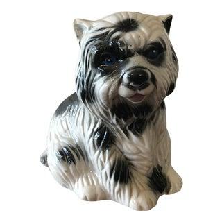 Vintage Ceramic Terrier Dog Figurine
