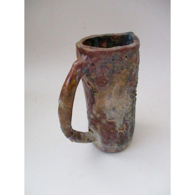 Brutalist Thick Glazed Pitcher Vase - Image 9 of 10