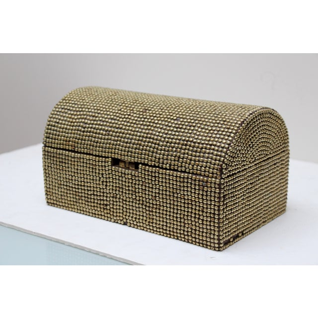 Brass Studded Tabletop Trunk - Image 2 of 9