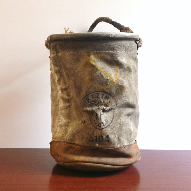 Image of Vintage Lineman's Canvas Bucket