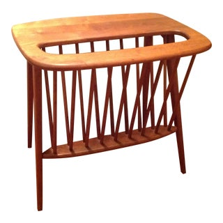 Mid-Century Occasional Table / Magazine Rack