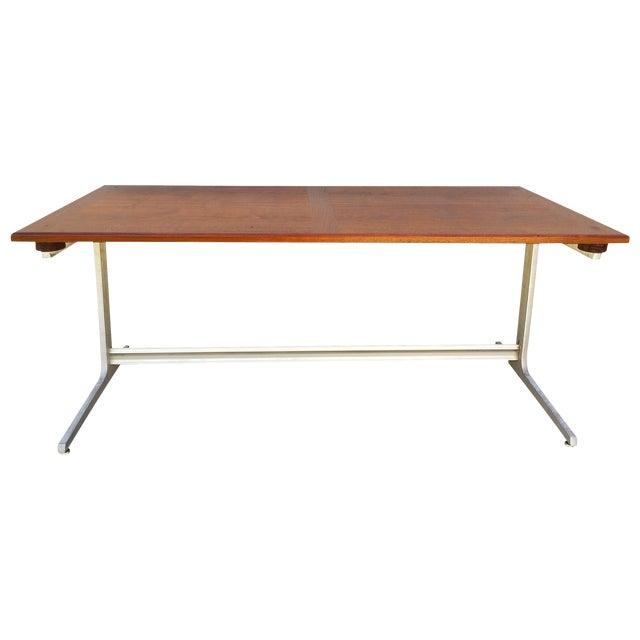 Mid-Century Industrial Metal & Walnut Desk - Image 1 of 11