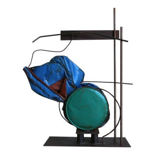 Large Scale Abstract Steel Patinated Sculpture by Kim Nelson