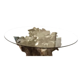"Z Gallerie Silver Leaf ""Sequoia"" Dining Table"