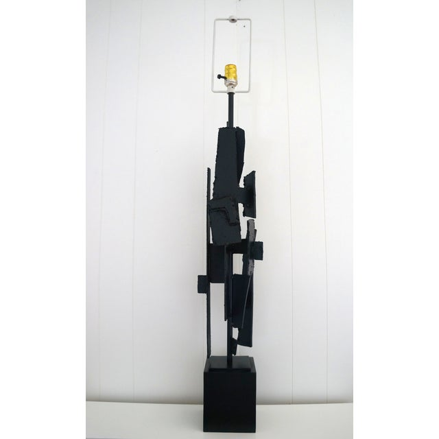 Brutalist Torch Cut Harry Balmer Lamp - Image 2 of 7