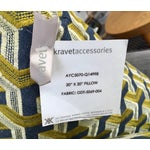 Image of Kravet Embroidered Denim Pillows - A Pair