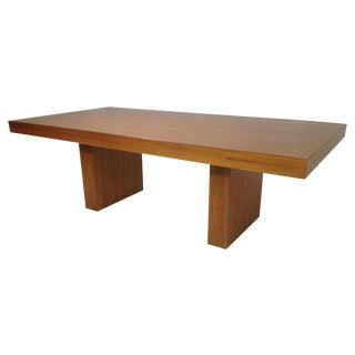 Modern Exotic Wood Dining Table