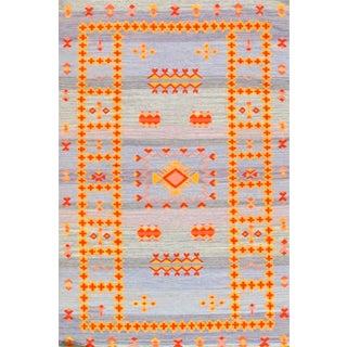 Navajo Style Reversible Flatweave Rug - 3′ × 5′