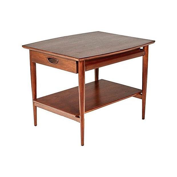 drexel dining room furniture 1960 | 1960s Drexel Heritage Walnut Side Table | Chairish
