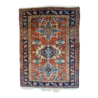 "Vintage Persian Heriz Rug - 2' x 2'8"""