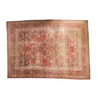 "Vintage Distressed Tabriz Carpet - 10'3"" X 14'2"""