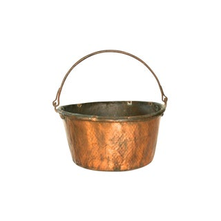 Antique English Hammered Copper Bucket
